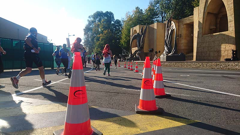 balisage semi-marathon disneyland